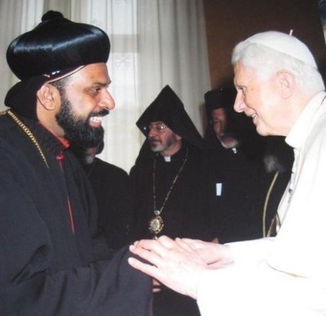 Pope Benedict and Malabar Syrian Bishop