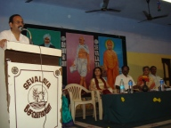 National Knowledge Commission Outreach Program at Sevalaya campus and with TAFVA ( Tamil Nadu Federation of Voluntary Agencies) on Feb. 22, 2009.