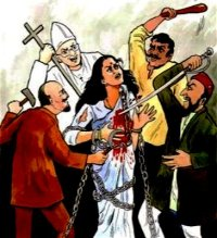 Hindu India under attack from the Monotheists.