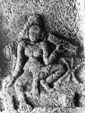 South Indian lady scholar holding palm leaf book -10th century