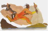 M.F. Husain's most vulgar painting: Sita riding the tail of Hanuman.