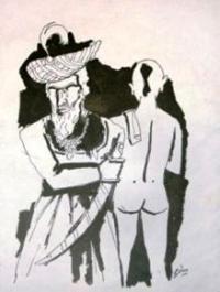 M.F. Husain's Brahmin
