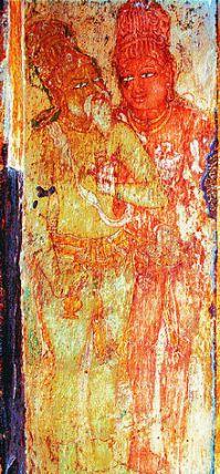 Rajaraja & his guru Karuvurar