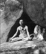 Abhishiktananda in a cave on Arunachala Hill