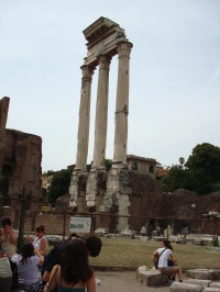 Temple of Castor & Pollux, Rome. Photo (C) Radha Rajan