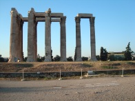 This is what is left of the Temple of Zeus in Athens.