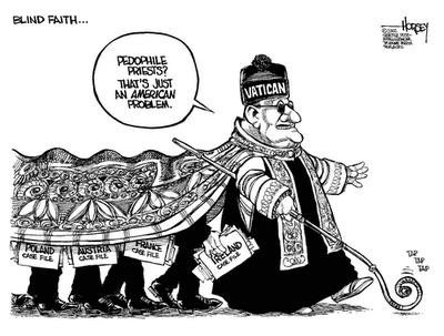The Vatican sees no evil, hears no evil!