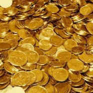 Gold coins.