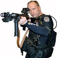 Self-portrait of Anders Behring Breivik posted on the Internet.