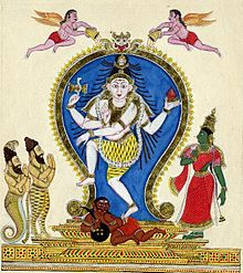 Chidambaram Shiva with Rishis and Parvati.