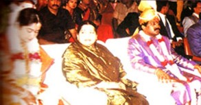 Jayalalitha and her adopted family.