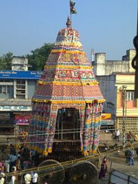 Nataraja car festival at Chidambaram