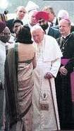 Sonia Gandhi & Pope John Paul II