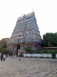 West gopuram of the Nataraja Temple.