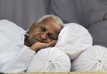 Anna Hazare on fast at Ramlila Maidan.