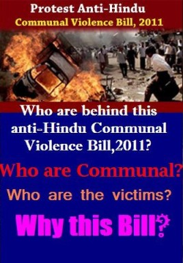 Protest Anti-Hindu Communal Violence Bill