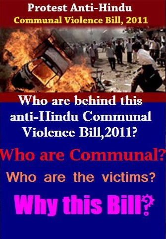 Sign the petition against the anti-Hindu Communal Violence Bill