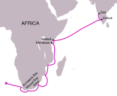 Da Gama's route to India