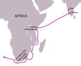 Da Gama's route to India