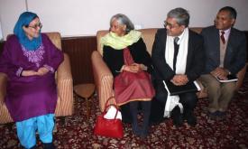 Kashmir interlocutors & Awami National Conference President Begum Khalida Shah.