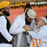 Narendra Modi with his Muslim constituency.