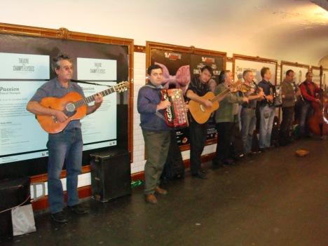 Russians singing in the Paris Metro.