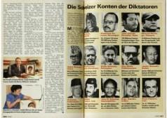 Swiss magazine Schweizer Illustrierte Nov. 1991