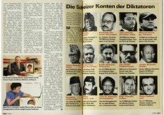 Swiss magazine Schweizer Illustrierte dated November 1991: Rajiv Gandhi's photo is on the bottom line second from the right.