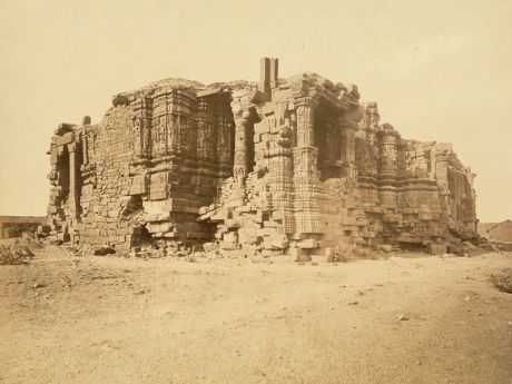 Somnath Temple ruins in 1869.
