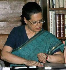 Anti-Hindu Sonia Gandhi at work on the Communal Violence Bill.