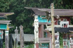 Dayak burial site in Borneo.