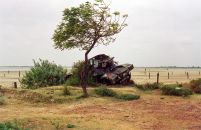 A rusting tank at Elephant Pass