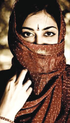 Hindu girl in a hijab!