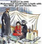 Prophet Mohammed and his 6-year-old wife Aisha.
