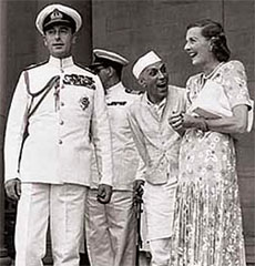 Lord Mountbatten, Nehru & Edwina Mountbatten