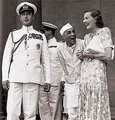 Lord Mountbatten, Nehru & Edwina Mountbatten