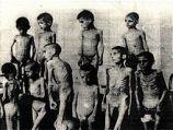 Romani children in Auschwitz concentration camp.