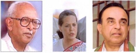 K.S. Sudarshan, Sonia Gandhi & Subramanian Swamy