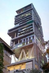 Antilia: Mukesh Ambani's house on Altamount Road, Mumbai.