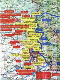 Map of secret terrorist training camps in Pakistan