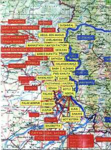Map of secret terrorist training camps in Pakistan.