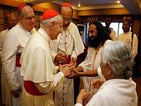 Cardinal Jean-Louis Pierre Tauran & Sri Sri Ravishankar