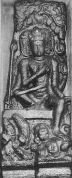Shiva wearing yoga band.