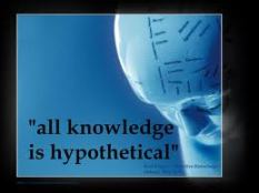 Fallibilism: All knowledge is hypothetical.