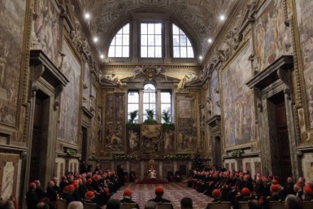 Benedict XVI address the Vatican Curia on 20 Dec. 2010