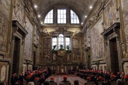 Benedict XVI address the Vatican Curia on 20 Dec. 2010