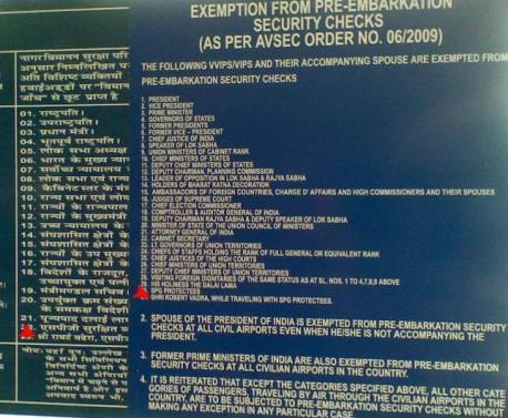 Robert Vadra on Security Check Notice