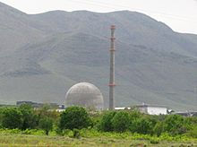 Arak heavy water reactor in Iran