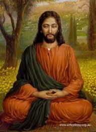 Jesus as a yogi in India