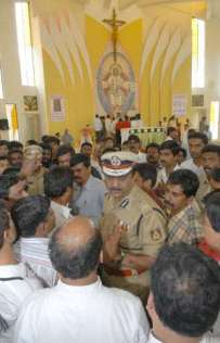 Police Commissioner at St. James Church in Bangalore.